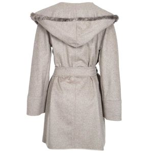 Long coat in wool and cashmere blend