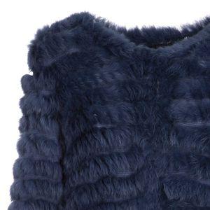 Pelliccia leggera in maglia e coniglio