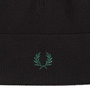 Wool cap with contrasting bands