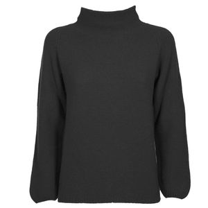 Solid color neck sweater