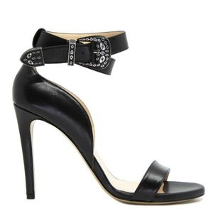 Curcuma sandal in leather with metal buckle