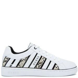Sneakers bianche con dettagli pitone