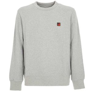 Gray crewneck sweatshirt with logo