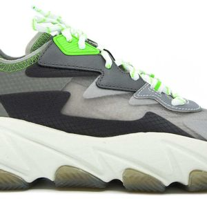Eclipse gray and green sneakers