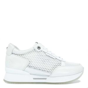 Sneakers with mesh and high plateau