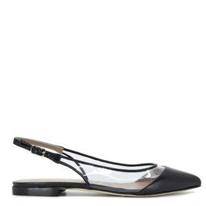 Low sandal with transparent side