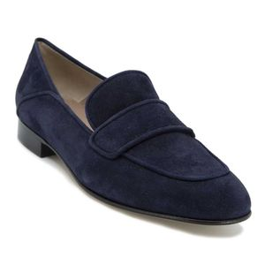 Teresa moccasin in blue suede leather