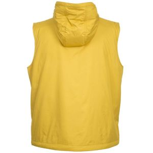 Solid color sleeveless with hood
