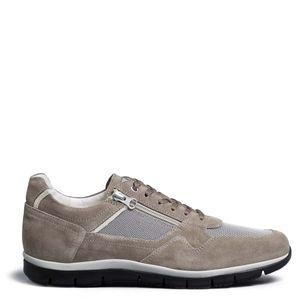 Sneakers in tessuto tecnico e camoscio