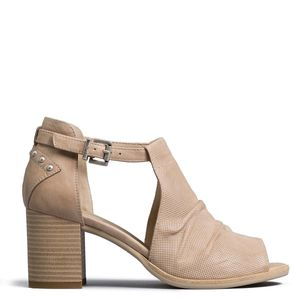 Lucky sandal in perforated leather