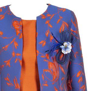 Silk blend dress with kimono jacket