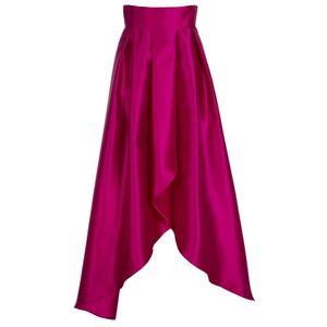 Long flared skirt with slit