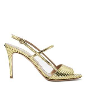 Golden striped sandal