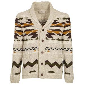 Cotton and viscose cardigan with pattern