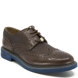 Brown lace-up with textured upper