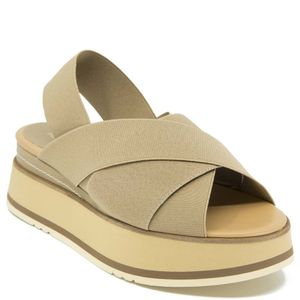 Tobago leather sandal with elastic bands