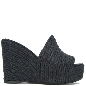 Jana sandal with 11cm jute wedge