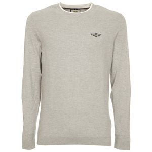 Sweater with contrasting patches