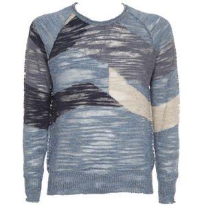 Transparent pullover in linen blend