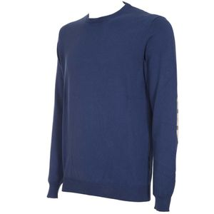 Lightweight cotton pullover with patches