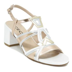 Sandal with copper and metal upper 4169