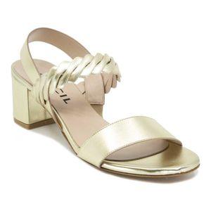 Metallic platinum sandal 4246
