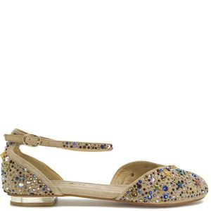 Open-toe sandal with rhinestones
