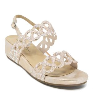 Glitter sandal with Oporto wedge