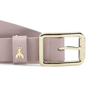 Genuine leather belt with fly