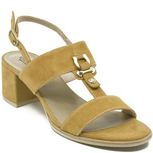Goat sandal in suede leather