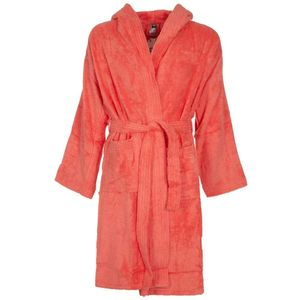 Terry bathrobe with logo band