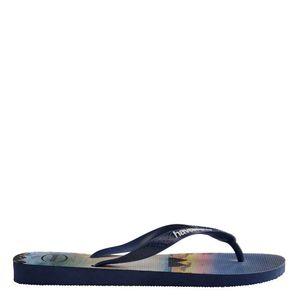 Flip flops with beach print