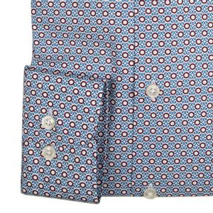 Slim fit shirt with micro pattern