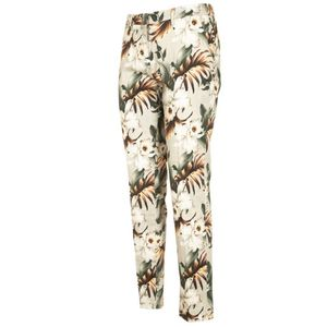 Floral trousers with studs