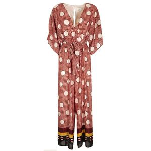 Jumpsuit with Natal maxi polka dots