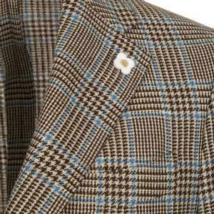 Checked wool blend jacket