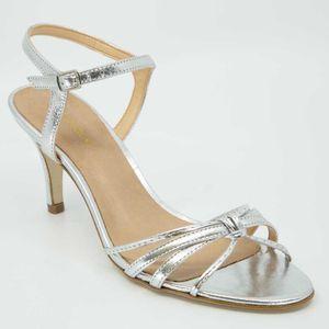 Silver sandal 8cm heel