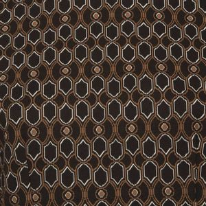 Long dress with geometric print