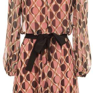 Filing patterned georgette dress