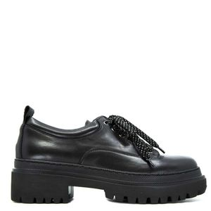 Black lace-up with over sole