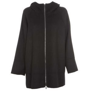 Pure wool cape with Mozart zip