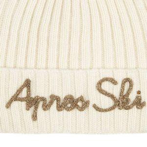 Cuffia in lana con scritta