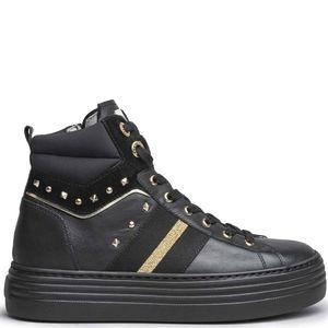 Sneakers alte con borchiette e fascia