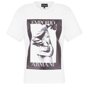T-shirt with black and white photo print