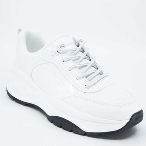 Sneakers bianche in vernice