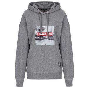 Sweatshirt with print and hood
