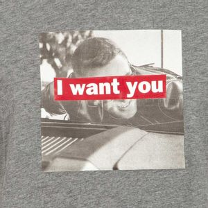 T-shirt with writing and print