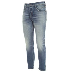 Faded Argon cropped jeans