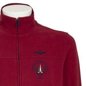 High neck sweatshirt with zip and logo
