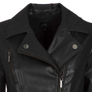 Classic black eco-leather jacket